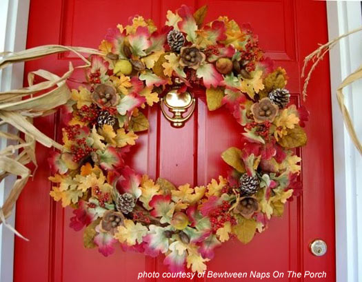 beautiful autumn wreath