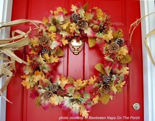 beautiful autumn wreath