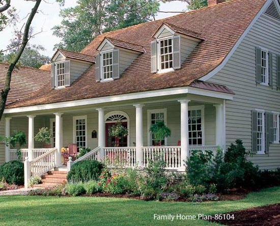 beautiful cape cod home plan with charming front porch