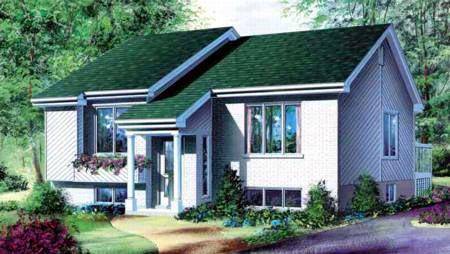 split level Contemporary home plan