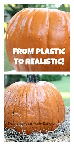 how to make faux pumpkins look more realistic
