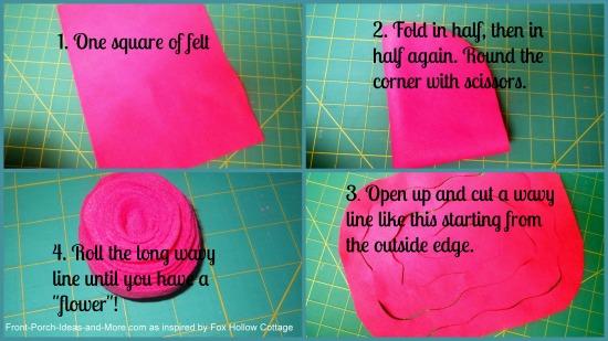 steps to making felt flowers