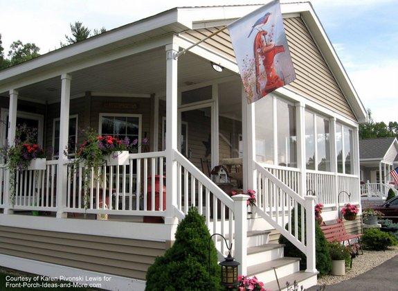 banner flag bracket installed on Karen's screened porch