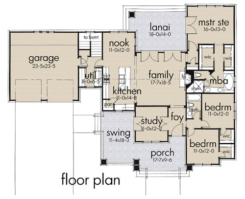 interior floor plan of craftsman home familyhomeplan.com number 75137