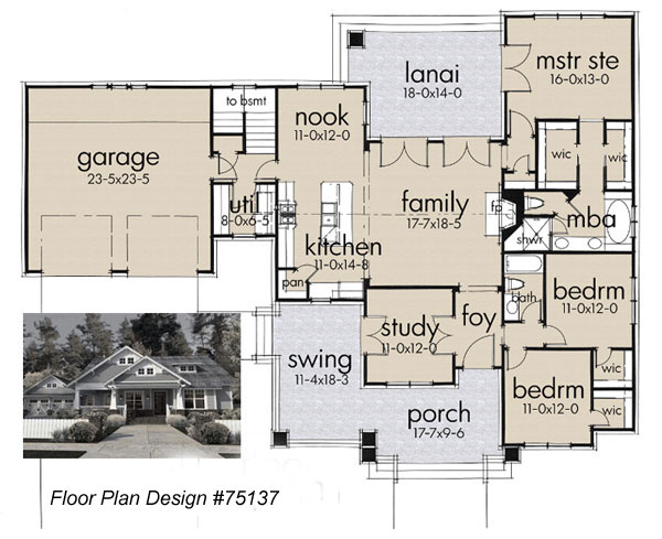 floor plan design 75137 by Family Home Plans