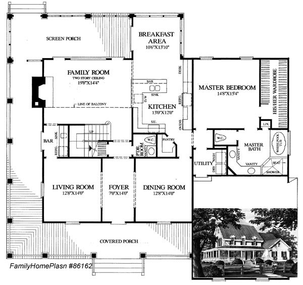 country farmhouse plans 86162 from Family Home Plans