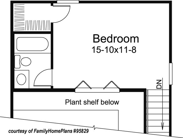small cabin house plan by family home plans 95829