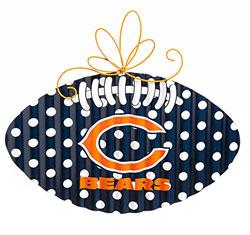 Chicago Bears Corrugated Metal Football Door Decor
