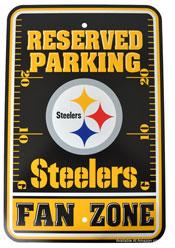 footbal reserved parking sign