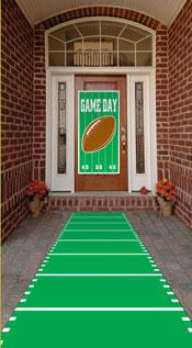 football front door and walkway decoration