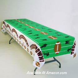 football field table cloth