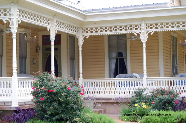 beautiful wrap around front porch in Fredericksburg Tx