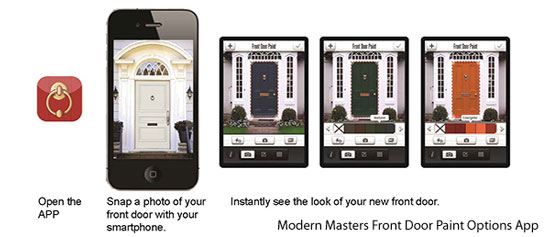 picture of how Modern Masters Front Door Paint Color Options App works