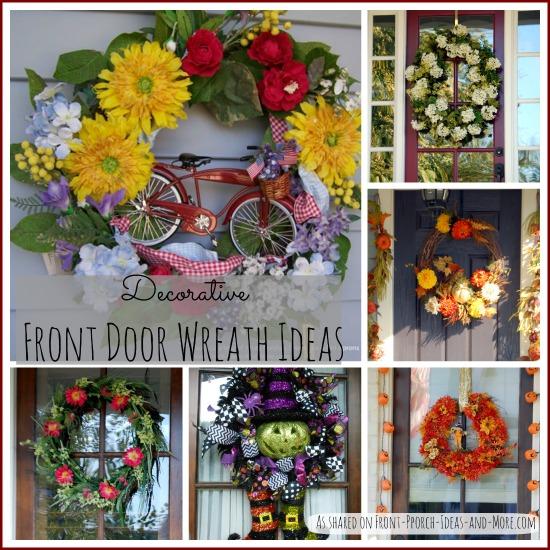 Front door wreath collage