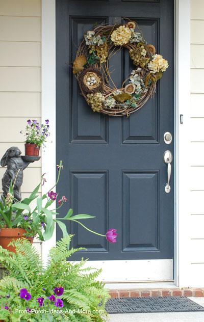 lovely front door wreath