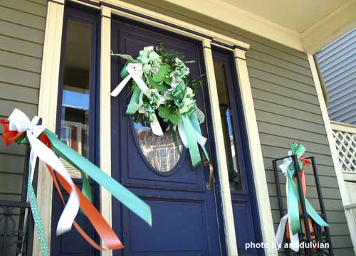 wreath display for St Patricks Day