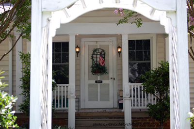 pretty white double front doors