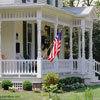 beautiful country front porch