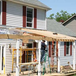 front porch construction and framing