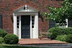 pediment over front door
