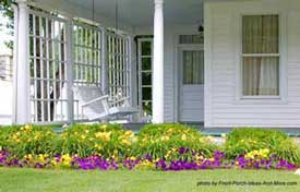 wide country farm house front porch