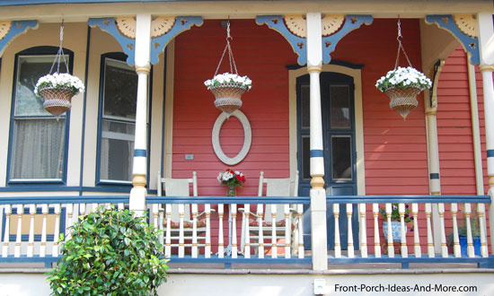 ornate front porch brackets