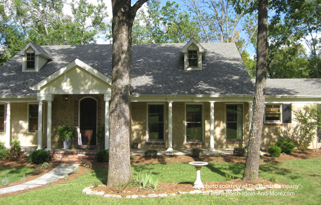 gabled roof front porch