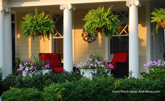 idyllc front porch with outdoor furniture