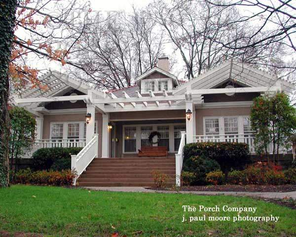 front porch with partial pergola style roof