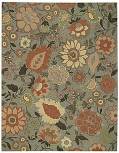 Exterior rug with floral print