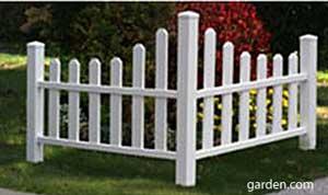 corner picket fence