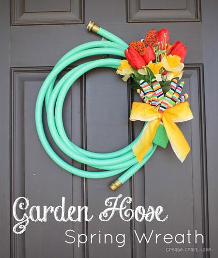 Jills garden hose wreath