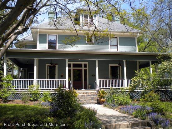 Country wraparound porch