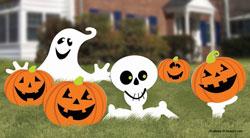 fun and fancy halloween yard signs