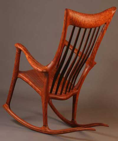 Hand-crafted rocking chair by Bill Lindau