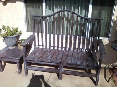 Joliene's handcrafted bench diy