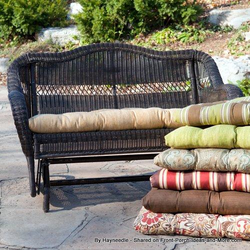 Sunbrella cushions from Hayneedle