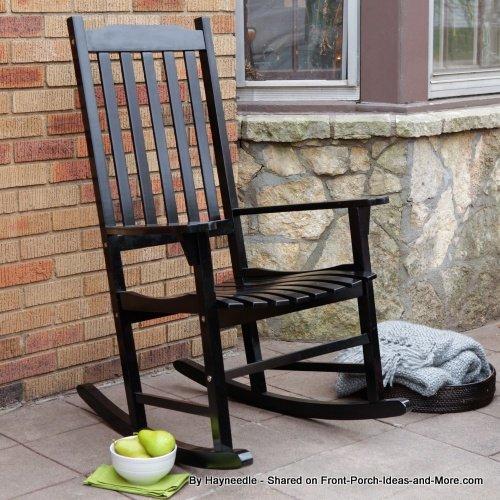 white slat rocking chair from Hayneedle