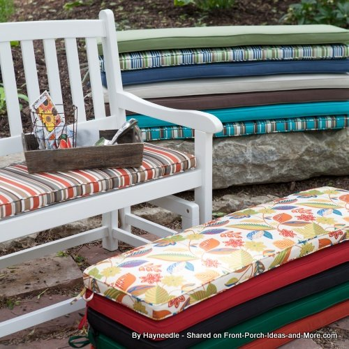 colorful rectangular porch swing cushions from hayneedle