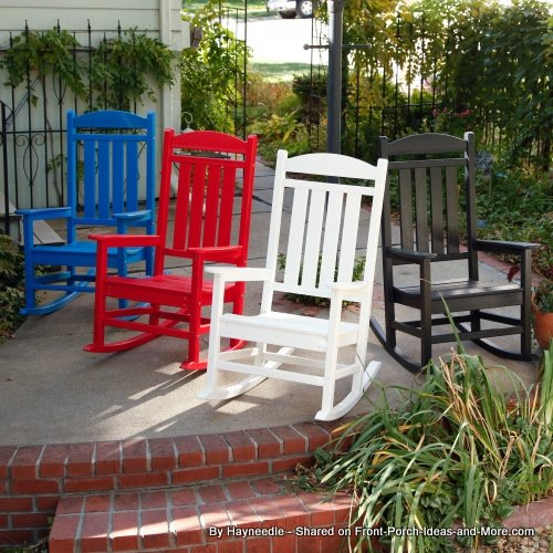 colorful set of children's wooden rocking chairs from Hayneedle