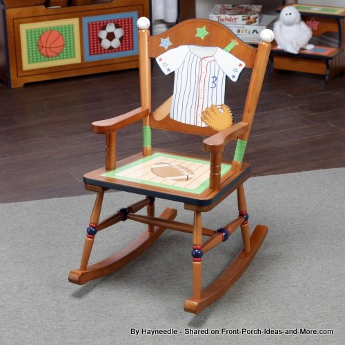Sports-themed children's rocking chair by Hayneedle