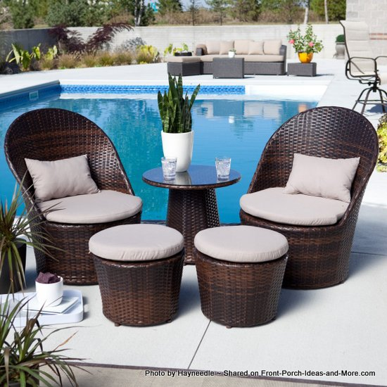 Looks like wicker bistro set - but actually it's resin
