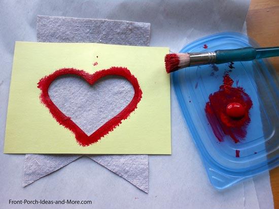 Heart garland materials