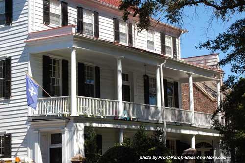 double decker front porch