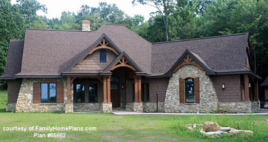 actual home built from Family Home Plans