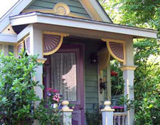 house trim on front porch