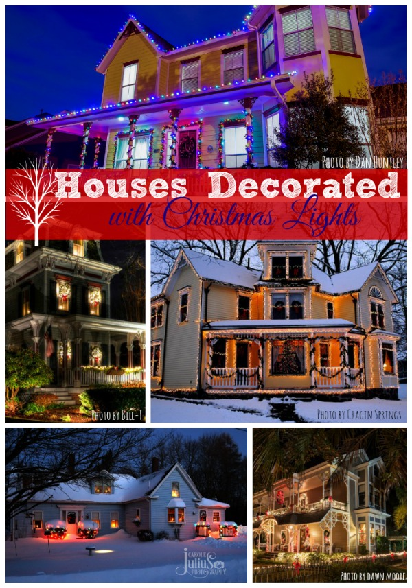 collage of Christmas front porches