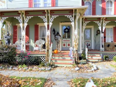 Victorian Halloween on the porch