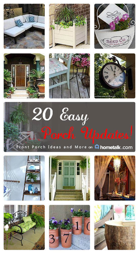 home talk board of easy porch updates