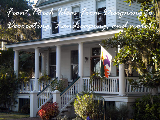 beautiful iconic front porch